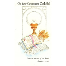 First Communion Card - Godchild