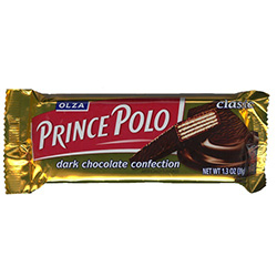 One of Poland's most popular chocolate bars originated in the 1950's by Olza SA in Cieszyn.  It's a dark chocolate covered wafer, with four layers of wafer joined by three layers of chocolate-flavored filling.
