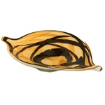 Jozefina Art Glass Platter - Brown & Tan