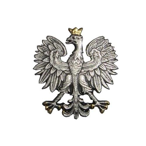 Polish art center polish eagle lapel pin gold crown alternative views mozeypictures Images