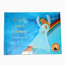 "The journey of Little Angel is a heartwarming birthday story retold and illustrated by Michigan author and illustrator Ms. Dzvinka Hayda.  This copy is signed by the author and includes a wonderful ""Little Angel's Journey"" bookmark."