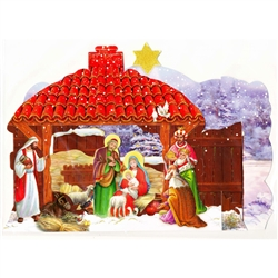 Polish Pop-Up Christmas Szopka (Creche) - Gloria, Gloria In Excelsis Deo #2