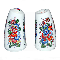 Opole Hand Painted Porcelain Salt and Pepper Shakers #2