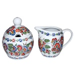 Opole Hand Painted Porcelain Sugar Bowl & Creamer #2