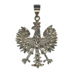 "Sterling silver Polish eagle. These eagles are made in Poland by a master jeweler.  Size is approx 1.75"" H x 1.25"" W."