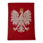 This is a small size rug perfect for hanging in a smaller place.  This Polish Eagle is the official coat of arms of the Republic Of Poland.