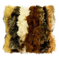 Sheepskin Pillow - Brown/Beige