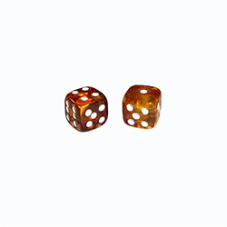 "Honey Amber Dice -  5/16"" (.9 cm)"