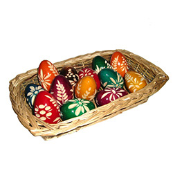 Wooden Easter Eggs, Polish Pisanki Folk Design Patterns