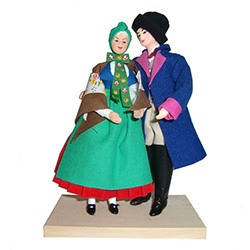 Kashub Couple Traditional Dolls - Para Kaszubska