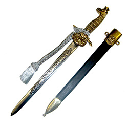Hunters Dagger With Crowned Polish Eagle Hilt And Scabbard #2