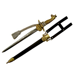 Hunters Dagger With Crowned Polish Eagle Hilt And Scabbard #3
