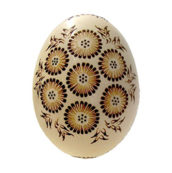 Hand Decorated Wax Embossed Ostrich Egg