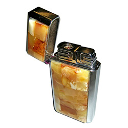 Honey Amber and Chrome Lighter