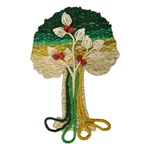Mixed-Media Wall Hanging Tree - Medium