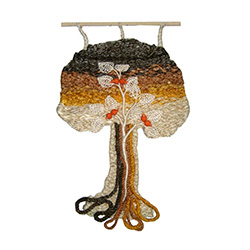 Mixed-Media Wall Hanging Tree - Large