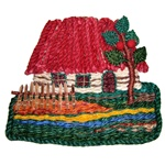 Mixed-Media Wall Hanging Cottage