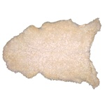 Natural Sheepskin Throw - Light Beige