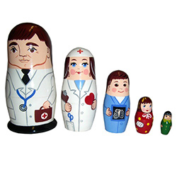 If laughter is the best medicine, our Doctor Doll and his staff will do their best to get you well on the road to recovery. A darling gift for a nurse, doctor, or any men of medicine, guaranteed to inject cheer into anyone's day!