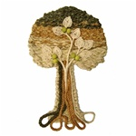 Mixed-Media Wall Hanging Tree - Medium #2