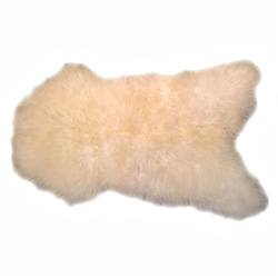 Wonderfully soft and luxurious natural long-nap sheepskin in off-white color.  Extra long nap, the kind you want to sink your fingers into.  From Zakopane Poland.