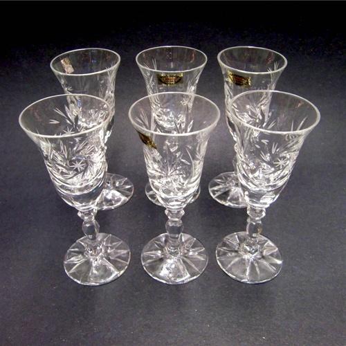 Alternative Views & Polish Art Center - Polish Stemmed Crystal Tulip Cordial Glasses ...