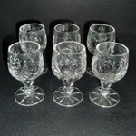 Crystal Round Stem Shot Glass - Set of 6