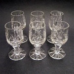 Crystal Stem Shot Glass - Set of 6