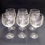 Crystal Round Wine Glass - Set of 6