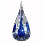 Art Glass Paperweight - 3-sides - Blue