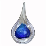 Art Glass Paperweight - 2-side - Blue