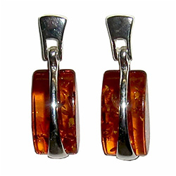 Honey Amber Purse Earrings