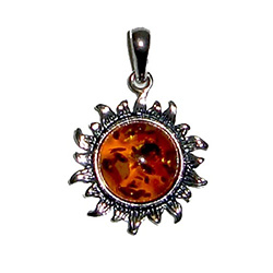 Starburst Honey Amber Pendant