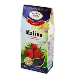 Another delightful Polish tea made from the fruits of Raspberry (18%), Aronia, Rose Hips, Rowan, Elderberry, Apple, Chokeberry and Hibiscus Flower.  Caffeine free.