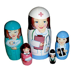 If laughter is the best medicine, this nurse doll will do her best to get you well on the road to recovery. A darling gift for a nurse, doctor, or any women of medicine; guaranteed to inject cheer into anyone's day!