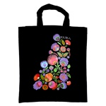 Shoulder tote bag in 100% cotton which features a beautiful Wyncinanki (Polish paper cut-outs) floral design.