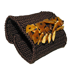Crocheted Amber Cuff