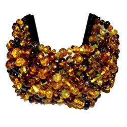 Multi-colored Amber Cuff