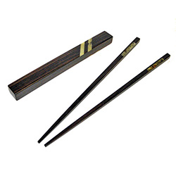 Walnut and Multi-color Amber Chopsticks (Style 3)