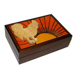 This beautiful box is made of seasoned Linden wood, from the Tatra Mountain region of Poland.  The skilled artisans of this region employ centuries old traditions and meticulous handcraftmanship to create a finished product of uncompromising qua
