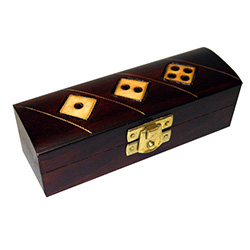 This beautiful handmade dice box is made of seasoned Linden wood, from the Tatra Mountain region of Poland.