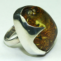 Size 7.5 - Amber ring
