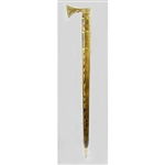 Ciupaga - Solid Brass Polish Mountaineer's Walking Stick - Large