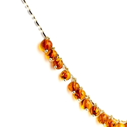 "16.5"" Honey Amber Charm Necklace"