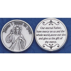 "Divine Mercy Pocket Token  Sister Faustina Kowalska, a humble daughter of Poland, was Canonized by Pope John Paul II. Jesus told her ""Humanity will not find peace until it turns with trust to God's Divine Mercy""."