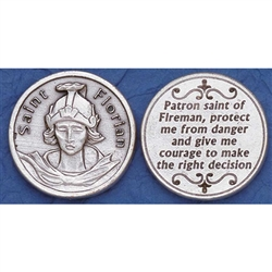 Saint Florian Pocket Token (Coin) Great for your pocket or coin purse.  Add to a gift for that extra special touch!  Saint Florian is the patron saint of firefighters, Hamtramck's St Florian Church celebrates it's 100 year anniversary this year.
