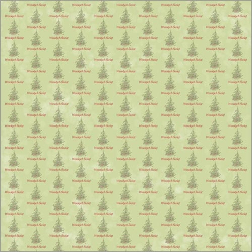 Polish Art Center Polish Scrapbook Paper Christmas Tree Green