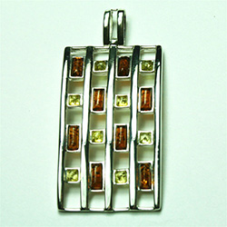 Must Have Multi Color Amber Pendant