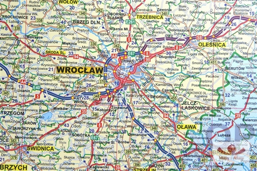Road Map Of Poland