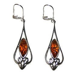 Honey Scroll Dangle Earrings